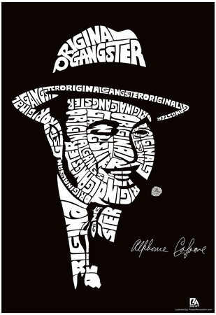 Al Capone Text Poster Posters