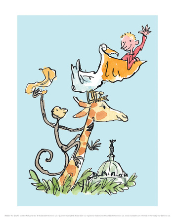 The Giraffe and the Pelly and Me Prints by Quentin Blake