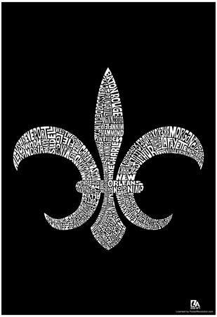 Louisiana Cities Text Poster Prints