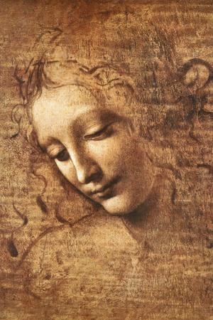 Leonardo Da Vinci (Female Head, La Scapigliata) Posters