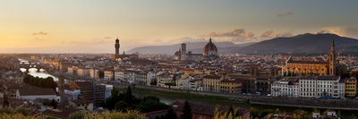 A Panoramic View of Florence at Twilight Photographic Print by Stephen Alvarez