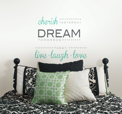 Cherish Dream Live Wall Decal Sticker Quote Wall Decal