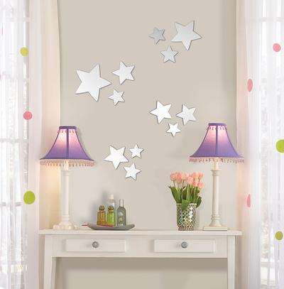 星(ミラータイプ)ウォールステッカー・壁用シール ウォールステッカー
