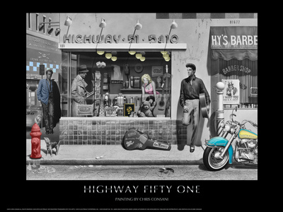 Highway 51 (Silver Series) Prints by Chris Consani
