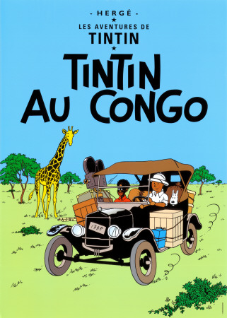 Tintin au Congo (1931) Reproduction d'art