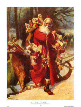 Father Christmas Art Print