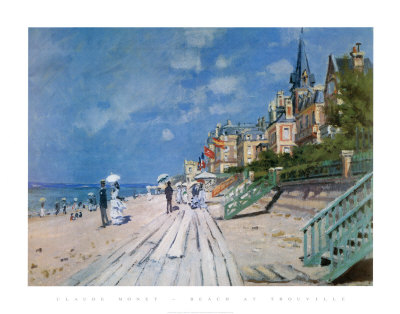 Plage de Trouville Reproduction d'art