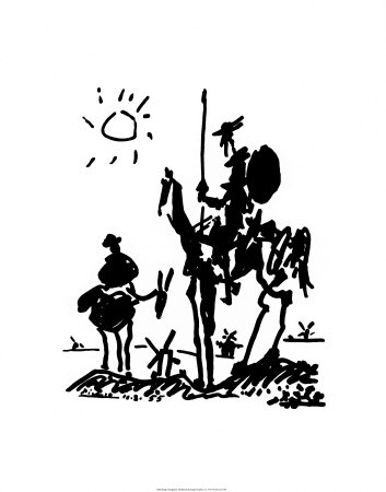 Don Quixote, 1955 Kunstdruck