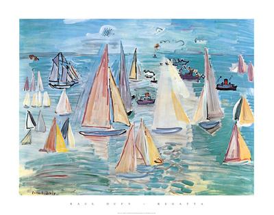 Regatta Posters by Raoul Dufy