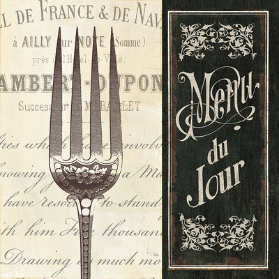 French Menu II Art Print