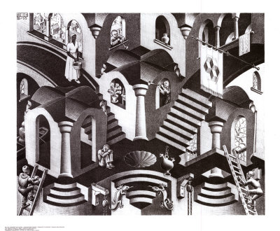 Concave and Convex Art by M. C. Escher