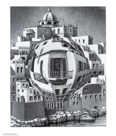 Balcony Prints by M. C. Escher