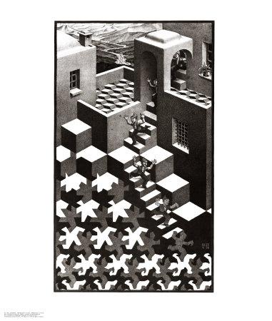 Cycle Prints by M. C. Escher