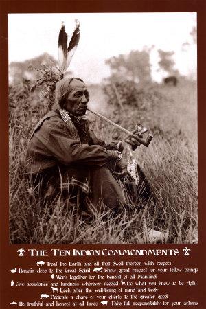 Ten Indian Commandments Lámina