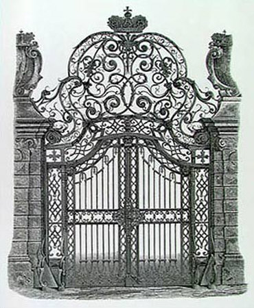 Wrought Iron Gate Art Print