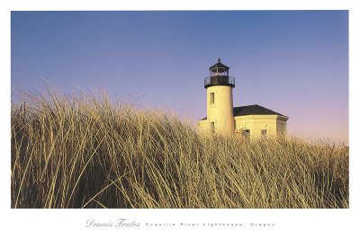 Coquille River Lighthouse, Oregon Posters by Dennis Frates