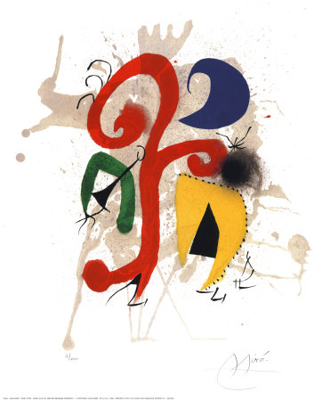 Abstract Posters by Joan Miró