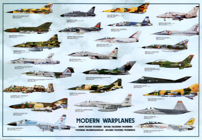 Aviões de guerra modernos poster