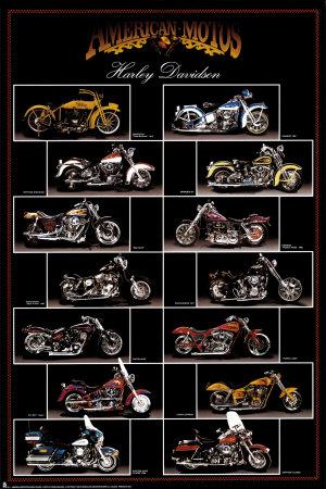 Motorcykel,Harley Davidson Plakat