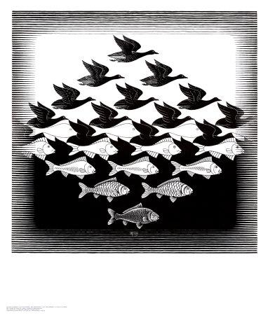Волшебные картины Роба Гонсалвеса Escher-m-c-aire-y-agua