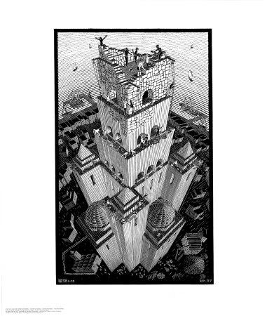 Babelstårnet Plakater af M. C. Escher