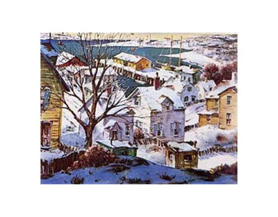 Winter Harbor Posters by Henry Gasser