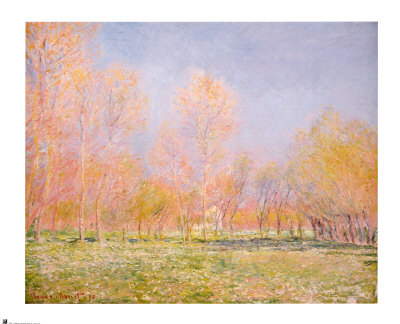 Printemps, Giverny, 1890 Reproduction d'art