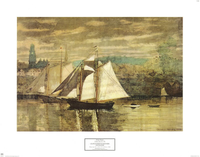 Gloucester Schooners and Sloop Prints by Winslow Homer