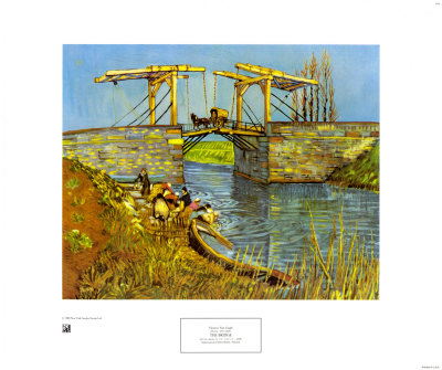 The Drawbridge at Arles with a Group of Washerwomen, c.1888 Art Print