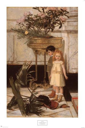 The Broken Flower Pot, 1876 Art by Jan C. Verhas