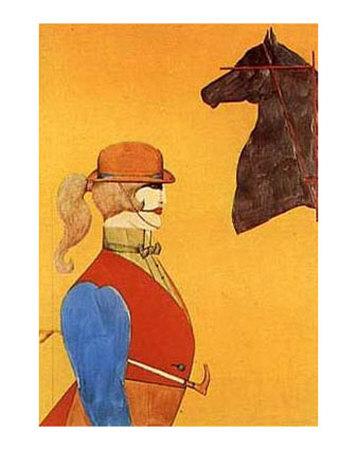 Girl in Riding Habit Poster av Richard Lindner