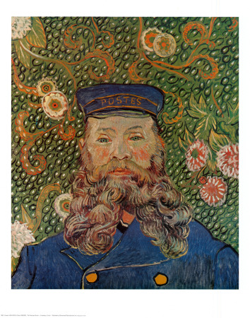 Portrait of the Postman Joseph Roulin, c.1889 Kunsttryk