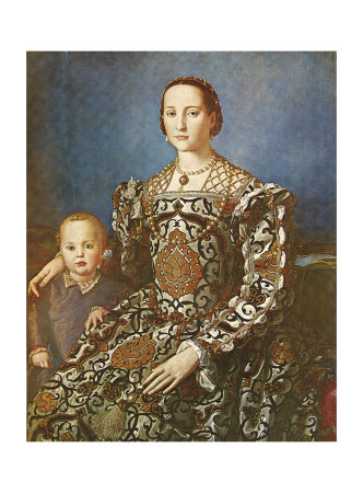 Eleanore and Son Plakater af Agnolo Bronzino