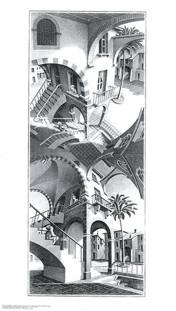 High and Low Prints by M. C. Escher
