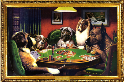 Dogs Playing Poker People Art Print Poster Kunstdrucke