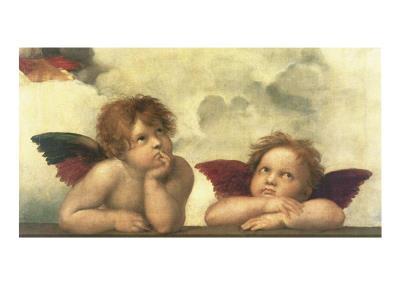 Sistine Madonna Detail Posters by  Raphael