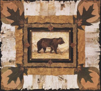 Bear Print by Pamela Gladding