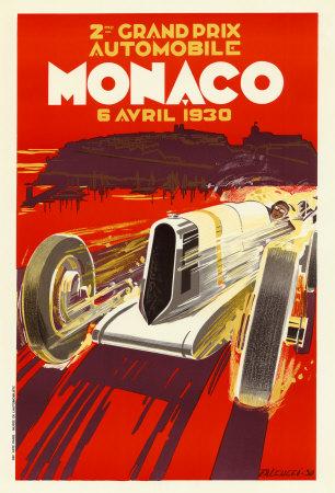 Monaco Grand Prix, 1930 Poster by Robert Falcucci