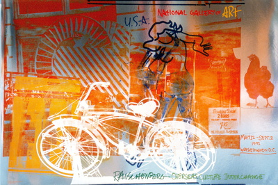Bicycle, National Gallery Collectable Print by Robert Rauschenberg