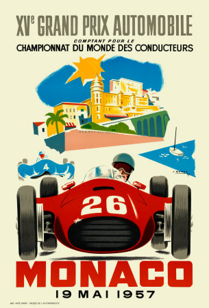 Monaco Grand Prix, 1957 Plakater