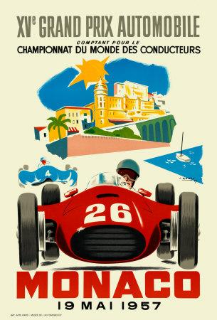 Monaco Grand Prix, 1957 Kunstdrucke