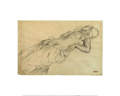 Reclining Nude Prints by Edgar Degas