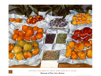 Fruit Displayed on a Stand Prints by Gustave Caillebotte