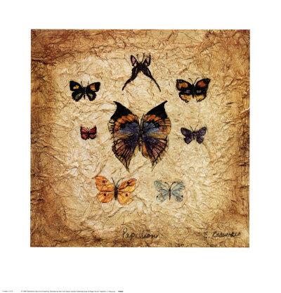 Papillons I Prints by Claudette Beauvais