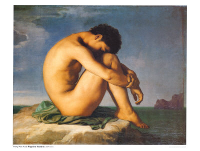 Young Male Nude, 1855 Art Print