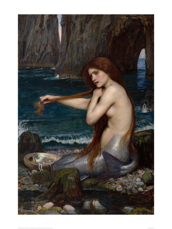 A Mermaid, 1900 Kunsttryk