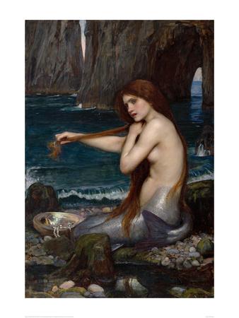 A Mermaid, 1900 Print by John William Waterhouse