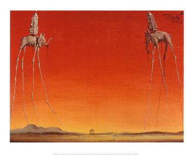The Elephants, c.1948 Poster by Salvador Dalí