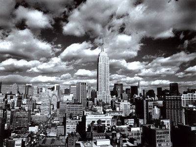 New york new york himmel over manhattan kunsttrykk
