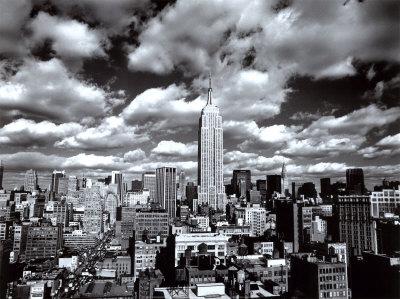 New York, New York, Sky Over Manhattan Poster by Henri Silberman